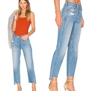 GRLFRND Helena High-Rise Straight Crop Jeans 27P